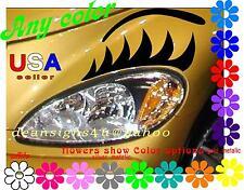 car EYELASHES & BROWS flat headlight PT Cruiser light ANY COLOR guaranteed New