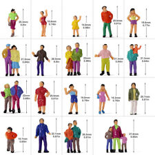 100pcs Model Trains 1:87 Painted Figures Ho Scale Passengers People P100W