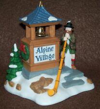 Department 56 Heritage Alpine Village Man Wearing Liederhosen Playing Alpenhorn