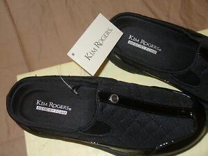 Kim Rogers Elinda Women's Open Back Slide Memory Sandal Black/Black Sz6.5M NWB