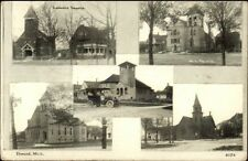 Durand MI Multi-View c1910 Postcard