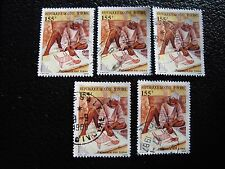 COTE D IVOIRE - timbre yvert/tellier n° 740 x5 obl (A28) stamp (A)