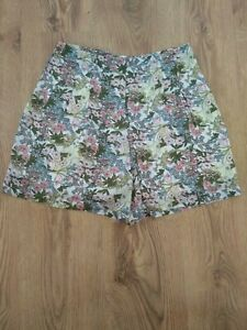 High Waisted floral Shorts Size 12UK