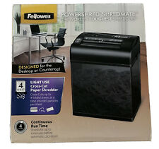 Fellowes Powershred Shredmate Cross Cut Paper Shredder 4 Sheets Black