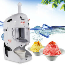 Electric Ice Shaver Machine 350W Snow Cone Maker Automatic Crusher 110V 18kg