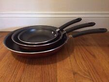Tramontina Porcelain Enamel Nonstick Skillet/Frying Pan 3-piece Set Made in USA
