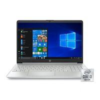 "NEW HP 15-DY1024WM 15.6"" HD I3-1005G1 3.4GHz 4GB RAM 128GB SSD WINDOWS 10 LAPTOP"