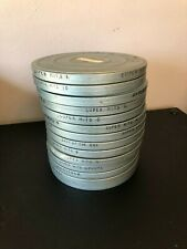 14 Vintage Olson Metal Cases for Reel-to-Reel Tapes Gray Hammertone Finish 8mm