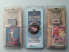 1896-1996 Centennial Collection Olympic Games Pin-Card SET OF 3 PINS CARD SEALED