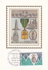 Carte 1er jour timbrée GUERRE 39-45 WW2 1974 VILLES compagnons libération 2