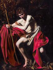 Caravaggio - Saint John the Baptist in the Wilderness, Art Poster, Canvas Print