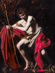 Caravaggio - Saint John the Baptist in the Wilderness, Art Poster, Canvas Print