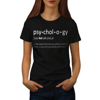 Wellcoda Psychology Science Womens T-shirt, Funny Casual Design Printed Tee