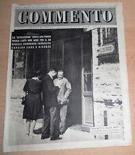 SETTIMANALE ILLUSTRATO PER TUTTI   COMMENTO  N°  34 1947  ORIGINALE !!!