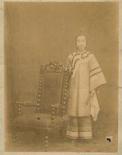 Photo Albumen Femme Chinoise China Chine Vers 1870