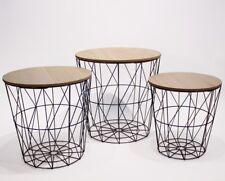 3er Set Design Beistelltisch Couchtisch Ablage Tisch schwarz Holz  NEU
