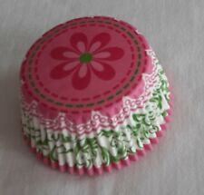 50 pink daisy pink bottom cupcake liners baking paper cup muffin case 50x33m