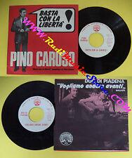 LP 45 7'' PINO CARUSO Basta con la liberta' DUO DI PIADENA Vogliamo * cd mc dvd