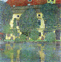 GUSTAV KLIMT CASTLE AT THE ATTERSEE BY KLIMT ARTIST PAINTING OIL CANVAS REPRO