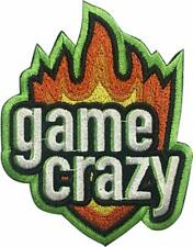 "Video Game Crazy  2.6"" x 3"" Logo Sew Ironed On Badge Embroidery Applique Patch"