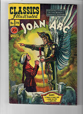 CLASSICS ILLUSTRATED #78 - Grade 8.0 - Joan of Arc. First Printing! Golden Age