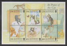 Alderney - 1996, Gatti Foglio - Nuovo senza Linguella - Sg MSA95
