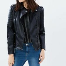 Faux Leather All Seasons Casual Coats & Jackets for Women