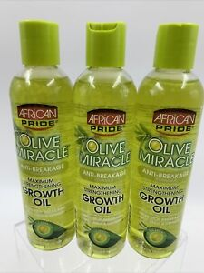 African Pride Olive Miracle Anti Breakage Strengthening Growth Oil 3-8oz NEW