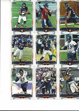 2014 Topps Chicago Bears Team Set Cutler Forte Marshall Jeffery Carey Fales 15