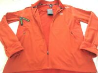 Nike Mens Therma Fit Velocity Research Running Jacket Orange Grey Size Large NWT