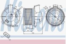 Nissens 87021 Blower Motor PEUGEOT 206   98-
