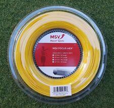 MSV Tennis string FOCUS HEX (1.18mm/17L) 200meter Reel (NEW, GENUINE)