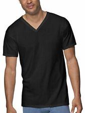 Hanes Men's V-Neck 3-Pack Undershirt Short Sleeve T-Shirt Ultimate ComfortSoft