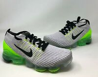 Nike Air VaporMax Flyknit 3  Vast Grey/Green Men's Size 9.5 US (AJ6900-011)