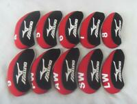 Bundle 10PCS Golf Iron Covers for Mizuno Club Headcovers 4-LW Red&Black Velco