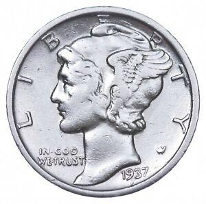 Razor Sharp 1937-S Mercury Liberty Dime 90% Silver Stunning in High Grade *925