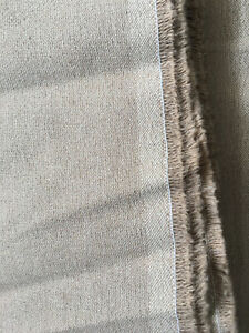 Rustic Hemp Denim Canvas Fabric textile natural,undyed Very wide 140cm width