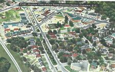 Airplane View of Five Points Section    Columbia  SC Unused Linen Postcard 10224