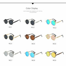 Vintage Polarized Steampunk Sunglasses Men Round Mirrored Retro Eyewear Fashion