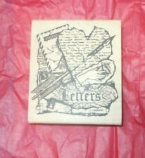 New Tim Holtz Collection Pattern adjustment guide wood mounted Rubber stamp