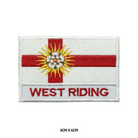 WEST RIDING County Flag With Name Embroidered Patch Iron on Sew On Badge