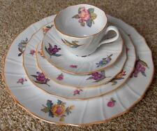 Spode fine china 5 pc place setting~pttn Y6575~English florals~gold rim-NR