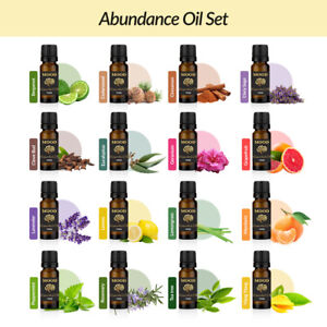 Abundance Essential Oil Set Aromatherapy Gift Kit Pack 100% Pure Oils Diffuser