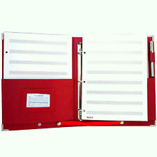 MSP 2 in 1 Music/ Choral Folder w/  Handle & Detachable Strap in Red Color