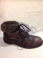 Labour Brown Ankle Leather Boots Size 42
