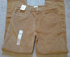 St John's Bay Men's Sun Bronze Corduroy Straight Fit Stretch Pants Size 36x34
