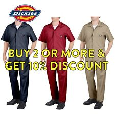 DICKIES 33999 MENS SHORT SLEEVE COVERALL FORMAL MECHANICS WORK UNIFORM NAVY
