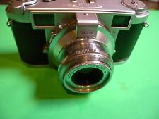 Leidolf Lordomat 35mm camera Germany 1953, w/50/2.8 lens, strap, case  LQQK !