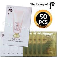 The history of Whoo Soo Yeon Hydrating Foam Cleanser 2ml x 50pcs (100ml) Newist