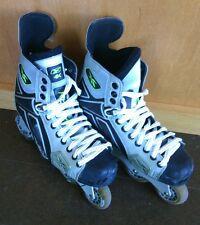 4K Reebok Inline Roller Hockey Skates Size US 7.5 D Blades Rollerblade Silver